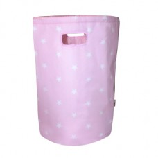 Minene Laundry Basket Pink Stars