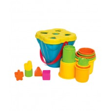 Playgro Shape Sorting and Stacking Buckets
