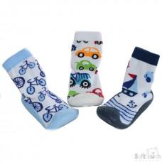 Soft Touch Чорапи с гумена подметка