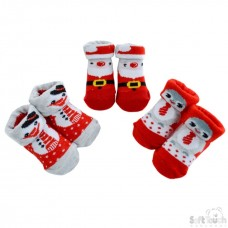 Soft Touch Baby Christmas Socks