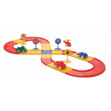 Viking Toys Road set in carsboard bucket