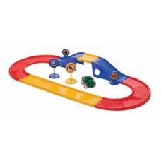 Viking Toys Road & bridge set in carsboard bucket