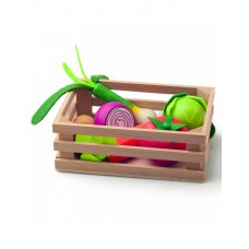 Woody Crate with vegetables