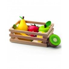 Woody Crate with fruits