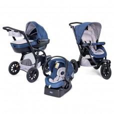 Chicco Комбинирана бебешка количка Trio Activ 3 Blue Passion