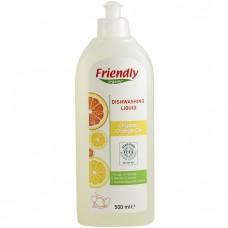 Friendly Organic Препарат за измиване на съдове с портокалово масло 500 мл