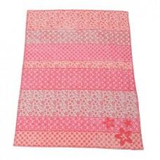 David Fussenegger Бебешко одеяло Lena 75х100 Цветя розово