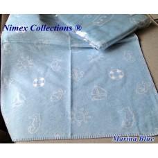 Bio cotton kids blanket 75 x 100 cm Marina Blue