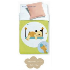 Baby blanket 110x140cm for allergics bear green