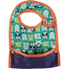 Close Parent Reversible Bib 6m+ Herman Monster