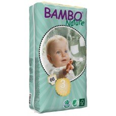 Bambo Nature Eco nappies Midi Tall Pack, 66pcs. - size 3