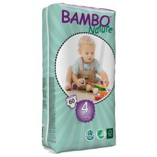 Bambo Nature Eco nappies Maxi Tall Pack, 60pcs. - size 4