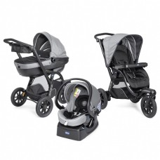 Chicco Комбинирана бебешка количка Trio Activ 3 Dark Grey