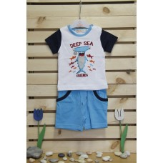 Babybol Blouse and trousers set Deep sea friends