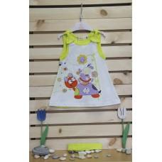Babybol Комплект рокля и лента за глава In my garden