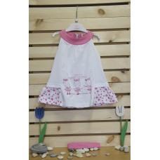 Babybol Dress and headband set Pink zebra