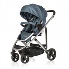 BabyHome Комбинирана бебешка количка 2 в 1 Liz, Синя