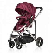 BabyHome Комбинирана бебешка количка 3 в 1 Citrus, Бордо