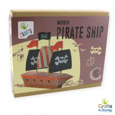 Andreu Toys Wooden Pirate Ship