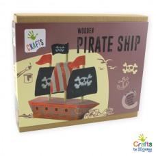 Andreu Toys Направи сам свой собствен дървен пиратски кораб
