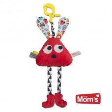 Mom's care Bunny clips, Red