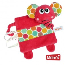 Mom's care Мека играчка - одеялце за гушкане Слонче