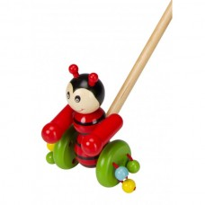 Beluga Wooden push toy