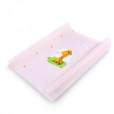 Berber Hard base changing mat Pink Giraffe