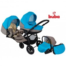 Baby stroller City blue and grey - Buba