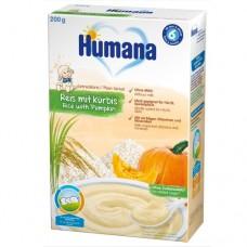 Humana Безмлечна каша ориз и тиква