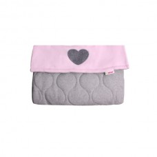Minene Cosy Foot Muff grey and pink