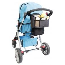 BabyDan Stroller organizer Lux Grey