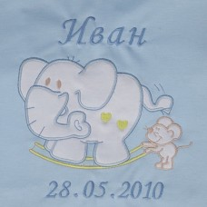 Ласка Baby Blanket with personal embroidery