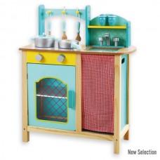 Andreu Toys Голяма синя кухня с аксесоари