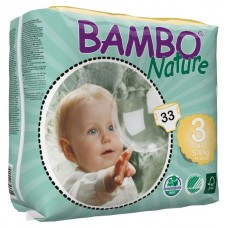 Bambo Nature Eco nappies Midi, 33pcs. - size 3