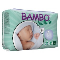 Bambo Nature Eco nappies Newborn, 28pcs. - size 1