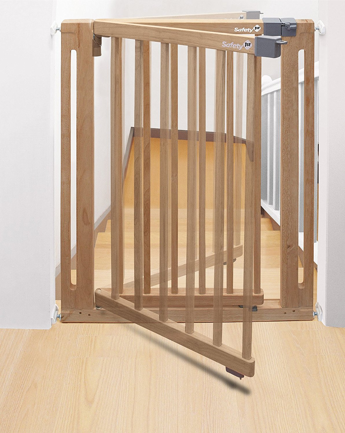 safety st easy close wood safety gate -